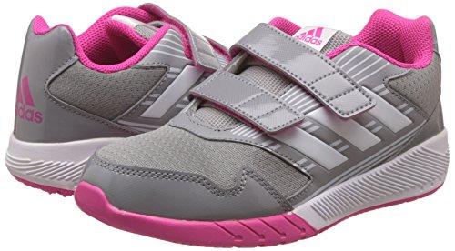 adidas AltaRun CF K - Zapatillas de deportepara niños, Gris - (GRIMED/FTWBLA/ROSIMP) mid grey/white shock pink