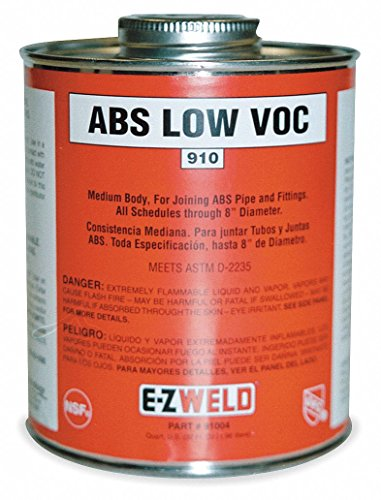 (EZ Weld Black Solvent Cement, Size 16, for Use with ABS Pipe and Fittings Up to 6