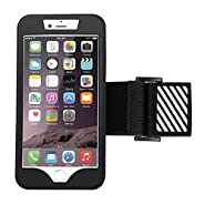 iPhone 6 & 6S Sport Armband-YOKIRIN Running Phone Case Holder Silicone iPod Touch with Reflective Band for iPhone 6S iPhone 6 (Black)