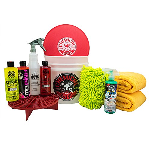 Chemical Guys HOL121 Best Car Wash Bucket Kit (11 - System Wash Car