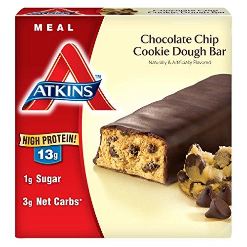 Atkins Meal Bar, Chocolate Chip Cookie Dough, 5 Ba…