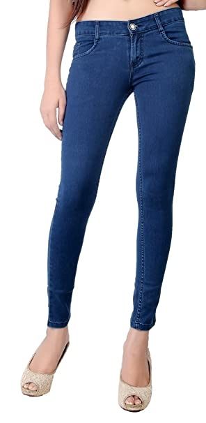 Obeo Ankle Fit Stretchable Silky Denim for Women Women's Jeans & Jeggings at amazon