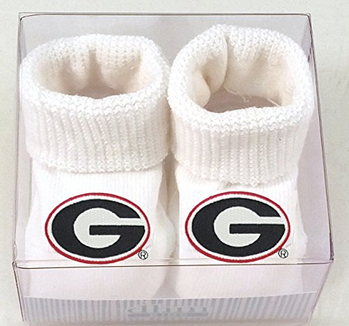 Future Tailgater Georgia Bulldogs Boxed Baby Booties