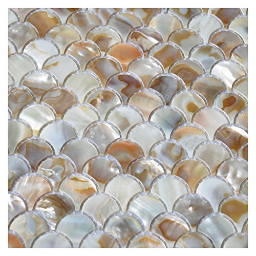 Art3d Mother Of Pearl Colorful Bathroom Wall Panels Fan