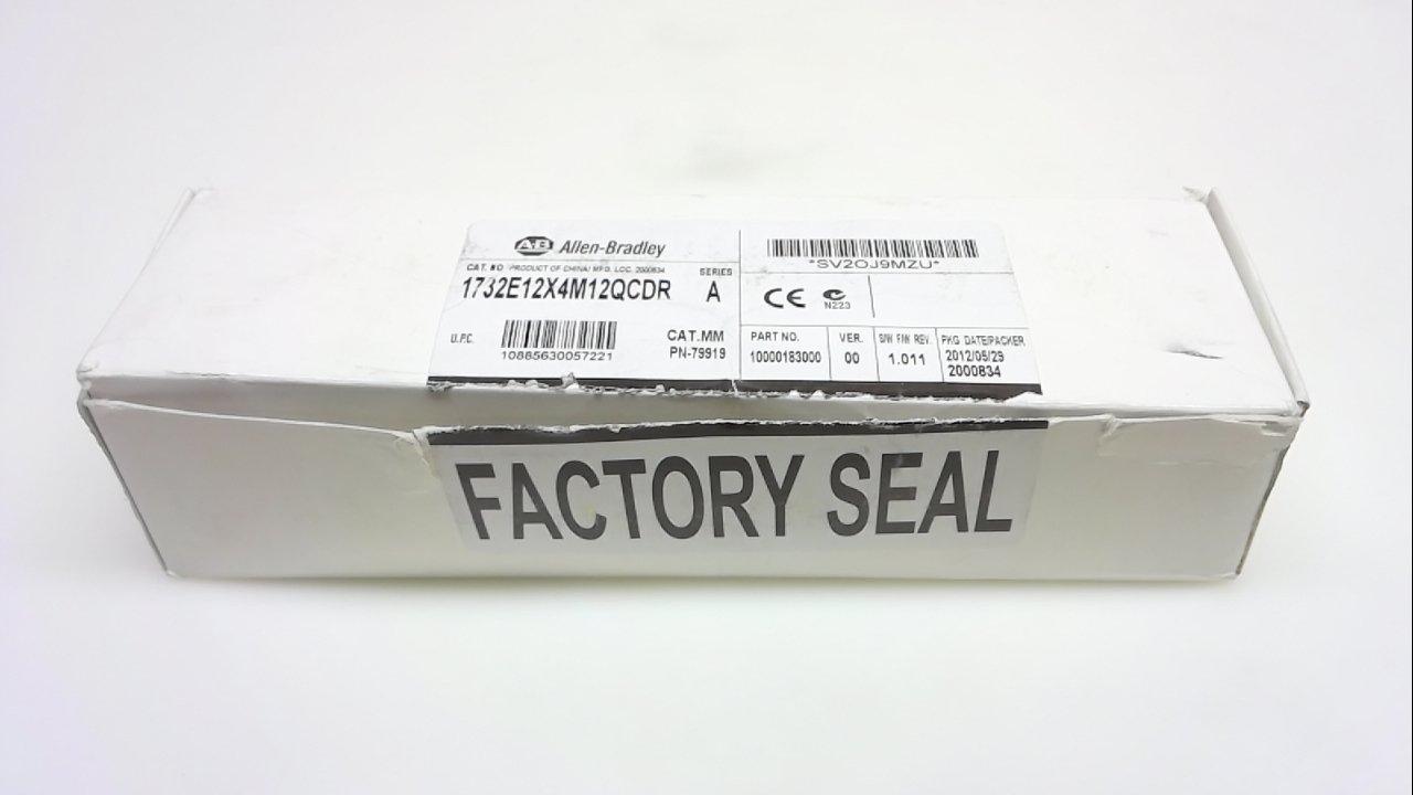 Allen Bradley 1732E-12X4m12qcdr, Series A, Ethernet I/O Module 1732E-12X4m12qcdr Series A