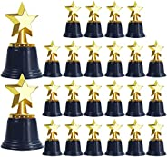 UgyDuky Gold Plastic Star Trophies for Kids, Pack of 24 Golden Colored Star Trophy Awards, Mini Award Trophies