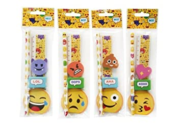 Lote de 24 Sets de 5 Pcs Papelería Emoticonos De Regalo ...