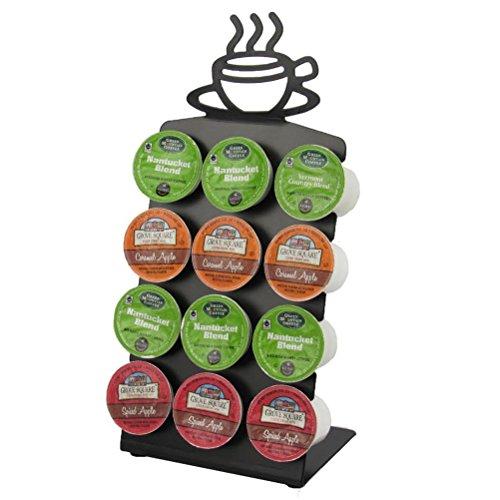 Texas Deluxe Gift Style K-Cup Keurig Display Rack 12 Coffee Pods Holder - Black