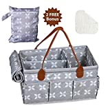 Moteph Extra Large Baby Diaper Caddy Organizer with Zip-Top Cover