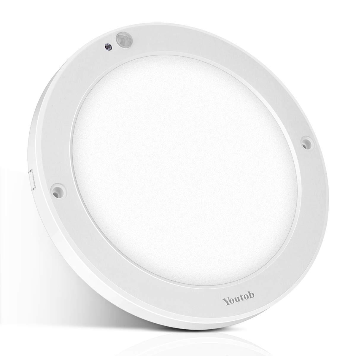 Youtob Motion Sensor LED Ceiling Light, 100 Watt Equivalent, for Indoor/Outdoor, Stairs, Closet Room, Basement, Hallway [Latest Upgrade Version]