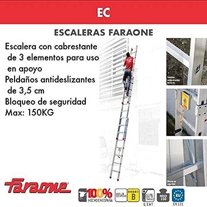 ESCALERA PROFESIONAL EC. FARAONE. LCS (S3400/EC. 14+14+14peldaños): Amazon.es: Bricolaje y herramientas