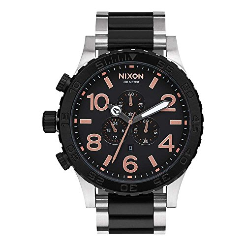 Nixon Unisex 5130 Chrono Watch BlackRose Gold