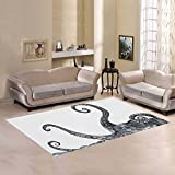 Love Nature Sweet Home Modern Collection Custom Octopus Area Rug 7'x5' Indoor Soft Carpet