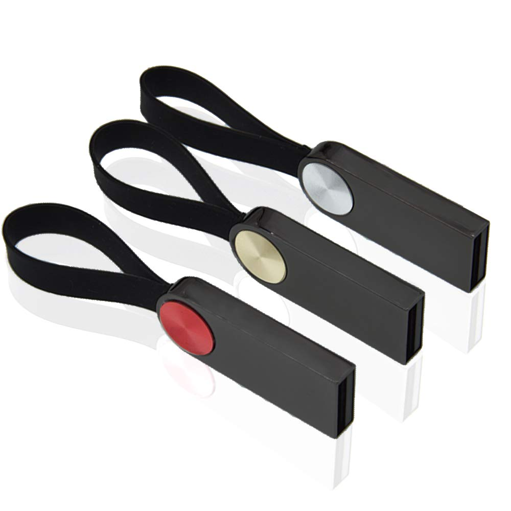 8GB Memorias Flash USB 3 Piezas Llavero USB 2.0 Pendrive Kepmem Venta Al por Mayor Metal Pequeño Almacenamiento Pen Drive, Multicolor