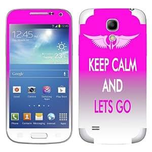 """Motivos Disagu Design Skin para Samsung I9195 Galaxy S4 mini LTE: """"KEEP CALM AND LETS GO"""""""