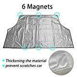 Magnetic Car Windshield Snow Cover, IC ICLOVER Wipers Covers Winter Snow Ice Frost Guard Sun Shade Protector Rain Dust Resistant No More Scraping Door Flaps Windproof Fit Most Car, SUV, Truck, Van