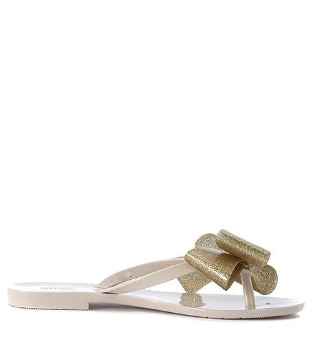 Melissa Chausson  Harmonic beige avec flocon or Beige - Chaussures Sandale Femme