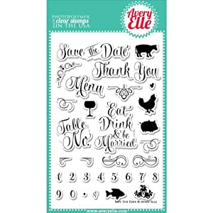 "Avery Elle Clear Stamp Set 4 ""X 6""-Save data"