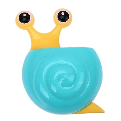 Amazingdeal365 Portacepillos de Dientes Infantil con Caracol Lindo de la Historieta, Sujetador de Cepillo de