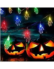 2 m 10 licht solar Halloween spookhand lichtketting schedel hand schedel decoratie feestdecoratie