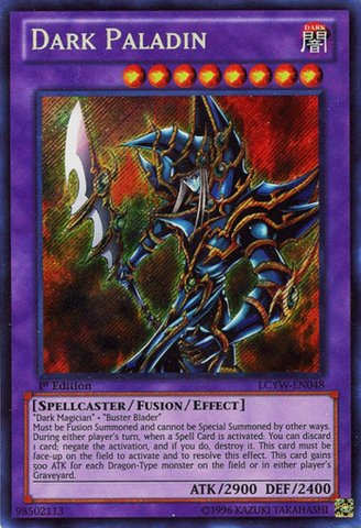 YuGiOh   Dark Paladin (LCYWEN048)  Legendary Collection 3  Yugi's World  1st Edition  Secret Rare by YuGiOh