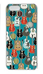 DIY Skin Case for iPhone 5C Plastic Case Back Cover for iPhone 5C With Guitar Pattern