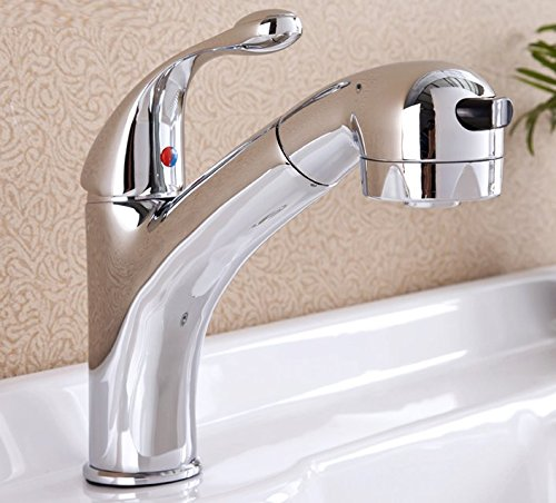 AWXJX Mixer Water Tap Hot and cold copper Basin Pull out by AWXJX Sink faucet
