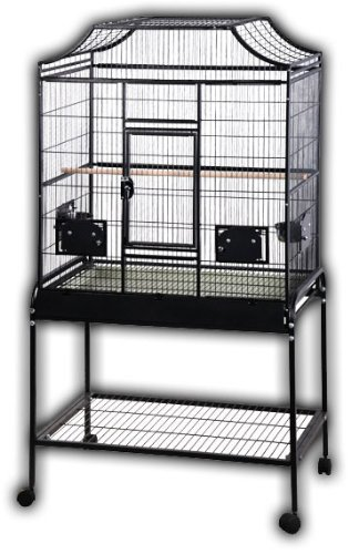 A&E Cage Co. 32' x 21' x 61' Elegant Flight Cage, Black