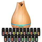 Aromatherapy Essential Oil Diffuser Bundle - 400ml Ultrasonic...