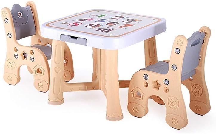 GSAGJzz Juego de sillas de Mesa de Actividades, Mesa de Estudio y Silla for niños, Silla de Mesa de Juego/Dibujo for niños pequeños, Mesa de Escritorio for Juegos Infantiles: Amazon.es: Hogar