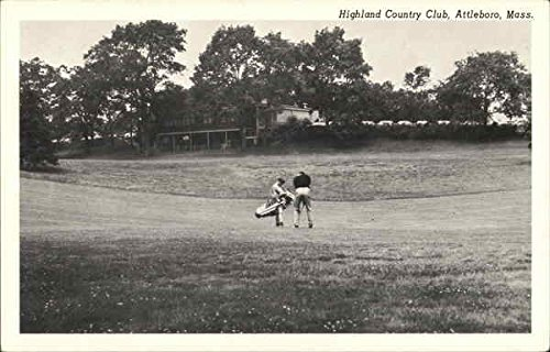 Player and Caddie, Highland Country Club Attleboro, Massachusetts Original Vintage Postcard