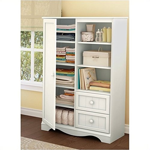 Pemberly Row Kids Door Chest in White Finish by Pemberly Row