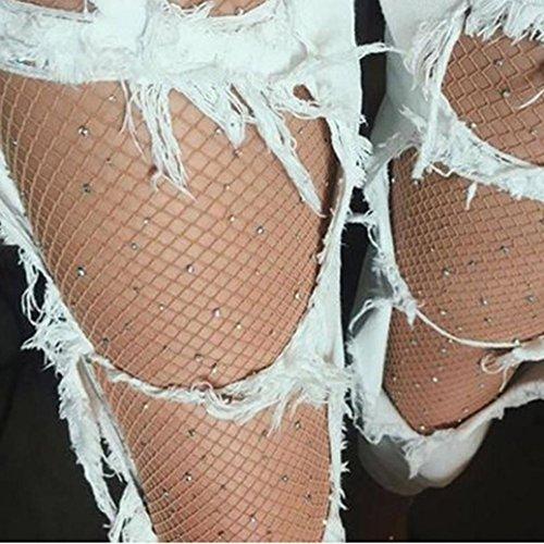 Calze Da Donna, Ragazze Alla Moda Inkach Rete Rete Bodystockings Modello Collant Calze Calze Da Pesca Calze A Rete Khaki