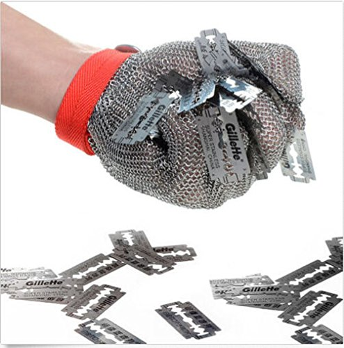 Safety Cut Proof Stab Resistant Stainless Steel Metal Mesh Butcher Work Glove by Radkell home series (Image #1)