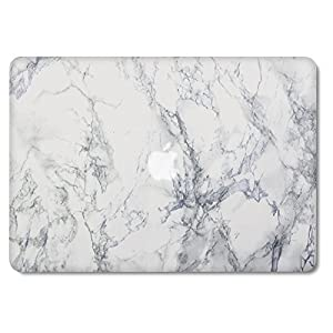 GMYLE Soft-Touch Frosted Hard Case for old MacBook Pro 13 inch with CD-ROM drive (Model: A1278) White Marble