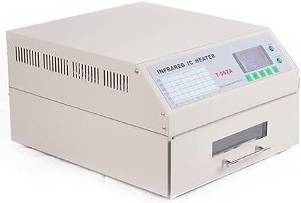 VEVOR Machine de Soudage par Refusion T-962A SMD Four /à Refusion 1500W Station de Soudage Ecran LCD Temp/érature 0-280℃ Zone de Soudure 300x320mm Poste /à Souder /à Refusion pour Circuits Imprim/és BGA
