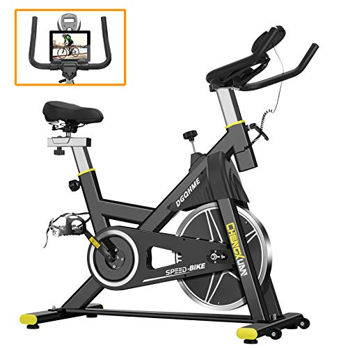 Exercise Bike DGQHME Indoor Stationary Bike   The Perfect Exercise Bikes for Home Gym   Indoor Exercise Bike for Men and…