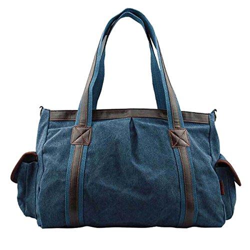 Win8Fong - Bolso al hombro para mujer Azul