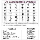 U7 Customized Black Italian Horn Necklace Pendant