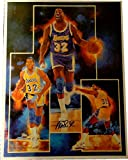 Magic Johnson Hand Signed Autographed 19x25 Print Los Angeles lakers Collage