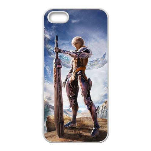 Final Fantasy 002 coque iPhone 5 5S Housse Blanc téléphone portable couverture de cas coque EOKXLLNCD11355