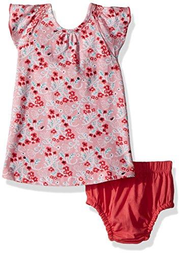 Hatley Baby Girls Mini Flutter Sleeve Dress, umbel Floral, 12-18 (Flutter Sleeve Mini Dress)