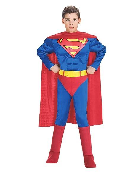 02ec02eaa19b Costume Superman Bambino Con Busto muscolare  Amazon.it  Giochi e ...
