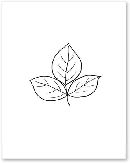 Dessin Au Trait Fleur Art Imprimer Noir Blanc Affiche Imprimer Home Decor Toile Peinture Mur Photo Pour Chambre Amazon Fr Bricolage