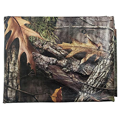Heavy Duty Waterproof Camo Poly Tarp Cover Thick 10Mil Multi Purpose(8' x 10',Maple Leaf)
