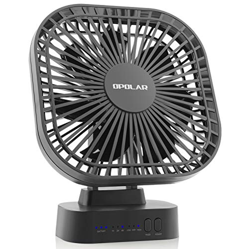 OPOLAR Battery Operated Fan, 5200mA Rechargeable Battery Pow