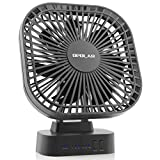 OPOLAR 5200mAh Battery Operated Desk Fan, 3 Speeds with Timer, 7 Blades, Super Quiet, Powered by USB or Rechargeable Battery, Perfect Small Personal Fan for Table & Outdoor