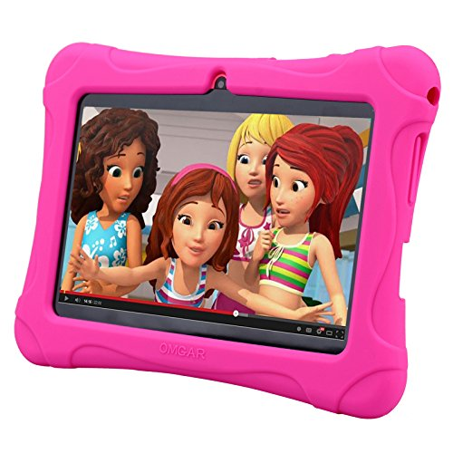 Omgar 7″ Kids Tablet –  With Pink Kid-Proof Silicone Case