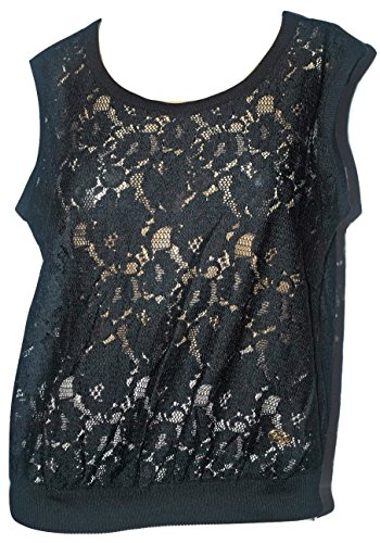 Dolce & Gabbana Women's Black Lace Sleeveless Shirt -