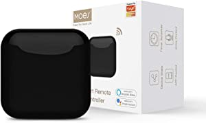 MOES WiFi RF IR Smart Home Universal Remote Controller for TV Air Conditioning Infrared RF Appliances, Compatible with Tuya/Smart Life App and Voice Control via Alexa and Google Home